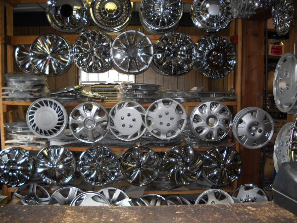 A selection of aftermarket wheel covers